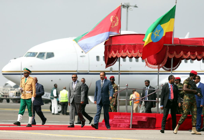 Isaias Afwerki  visit  Ethiopia a country he fought for over 3 decades and seceded 1991